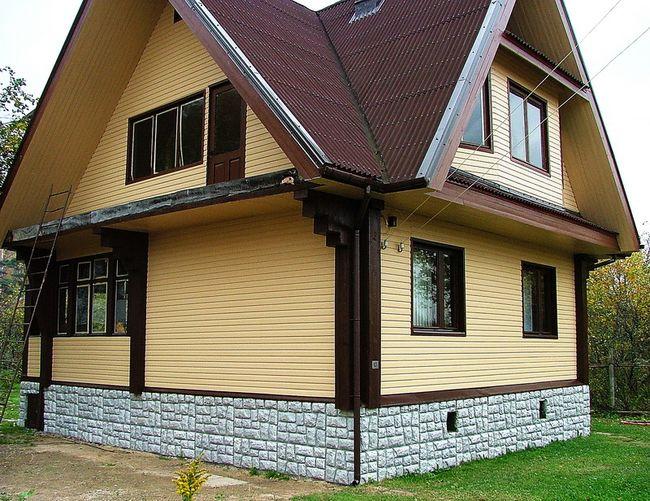 Отделка дачного дома снаружи фото